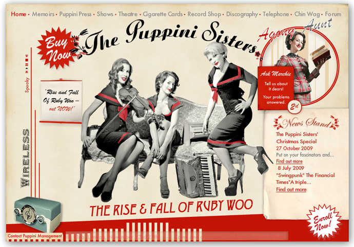 thepuppinisisters - Flash site