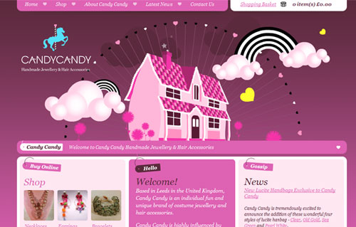 Sweet And Creative Pink Websites